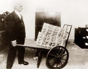 Wheel Barrow of Money