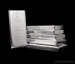 100 oz. Silver Bars, RCM