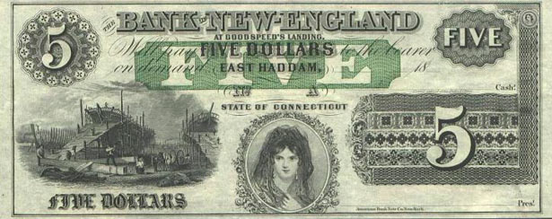 19th Century US bank note.