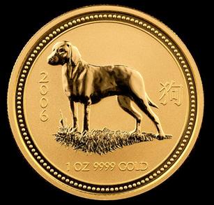 2006 Perth Mint Gold Dog