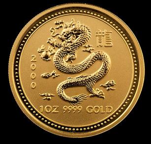 2000 Perth Mint Gold Dragons