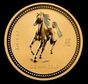 2002 Perth Mint Gold Horses