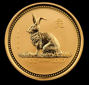 1999 Perth Mint Gold Rabbits