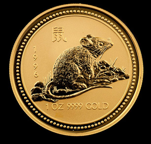 1996 Perth Mint Gold Rat