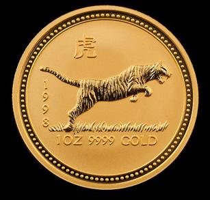 1998 Perth Mint Gold Tigers