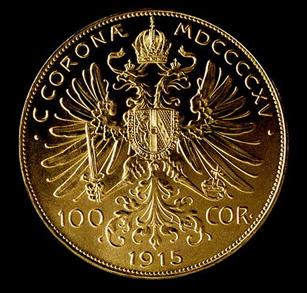 Austrian 100 Coronoa Gold Coin