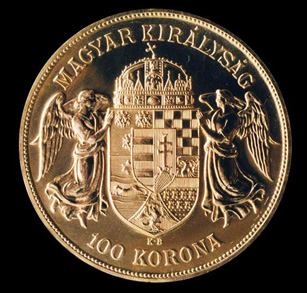 Hungarian 100 Korona Gold Coin