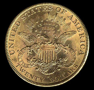 Twenty Dollar Gold Coin Liberty 20