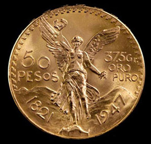 Mexican 50 Pesos Gold