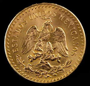 Mexican 50 Pesos Gold