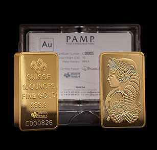 10-oz Gold Bars