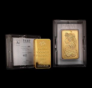 10-oz Gold Bars